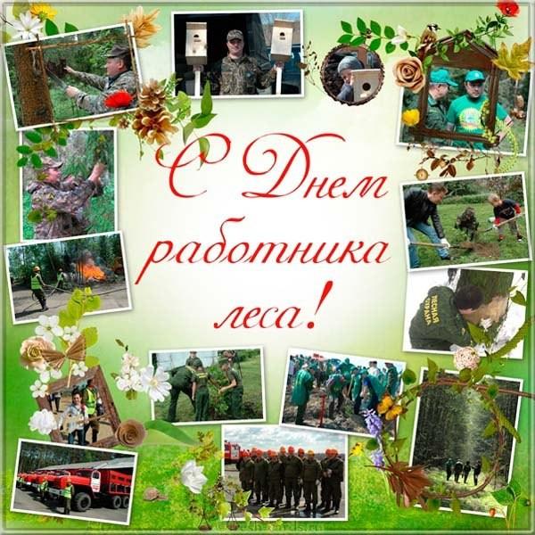Классная открытка с днём работников леса