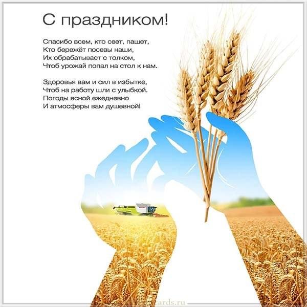 Открытка с праздником на день работника сельского хозяйства