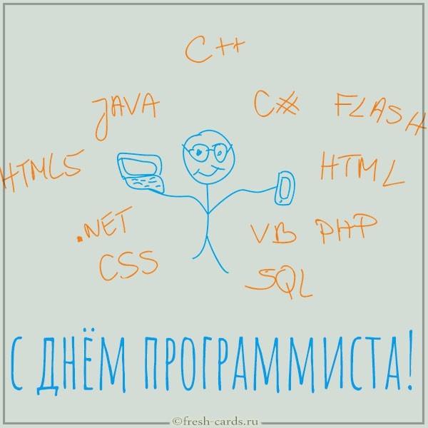 Прикольная открытка с юмором на день программиста