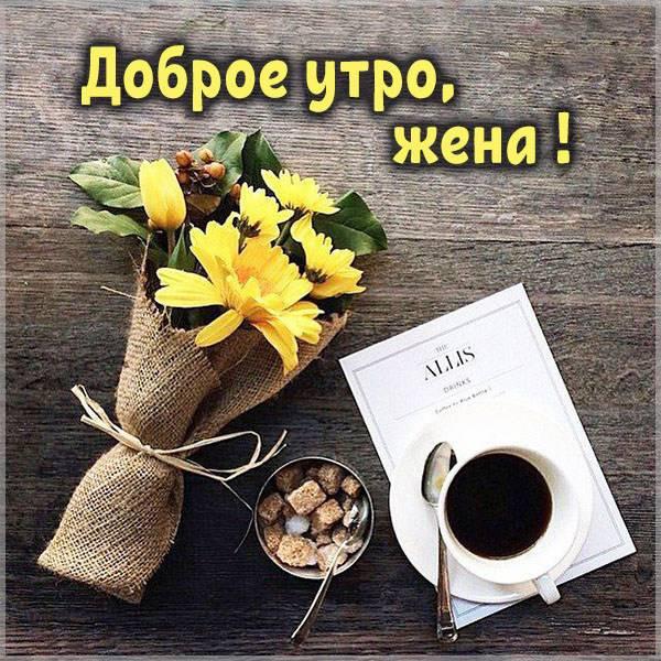 Бесплатная электронная картинка доброе утро жене - скачать бесплатно на otkrytkivsem.ru