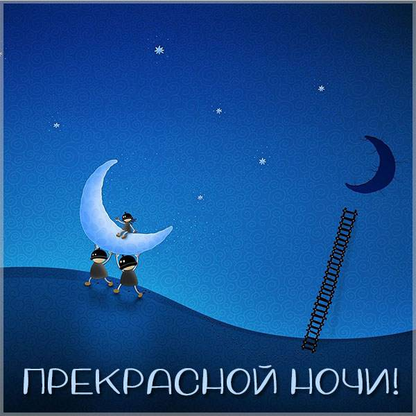 Бесплатная картинка прекрасной ночи - скачать бесплатно на otkrytkivsem.ru