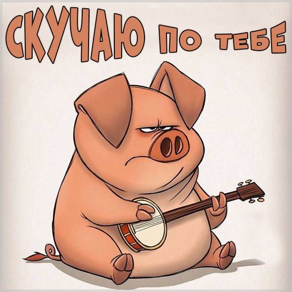 Бесплатная картинка скучаю по тебе прикольная - скачать бесплатно на otkrytkivsem.ru