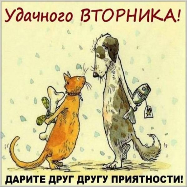 Бесплатная открытка удачного вторника - скачать бесплатно на otkrytkivsem.ru