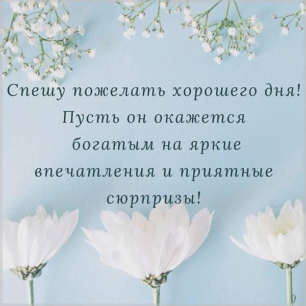 Душевная картинка хорошего дня - скачать бесплатно на otkrytkivsem.ru