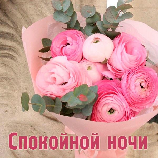 Фото букет спокойной ночи - скачать бесплатно на otkrytkivsem.ru