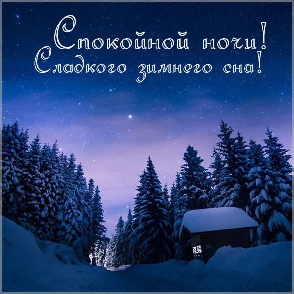 Фото спокойной ночи зимы - скачать бесплатно на otkrytkivsem.ru