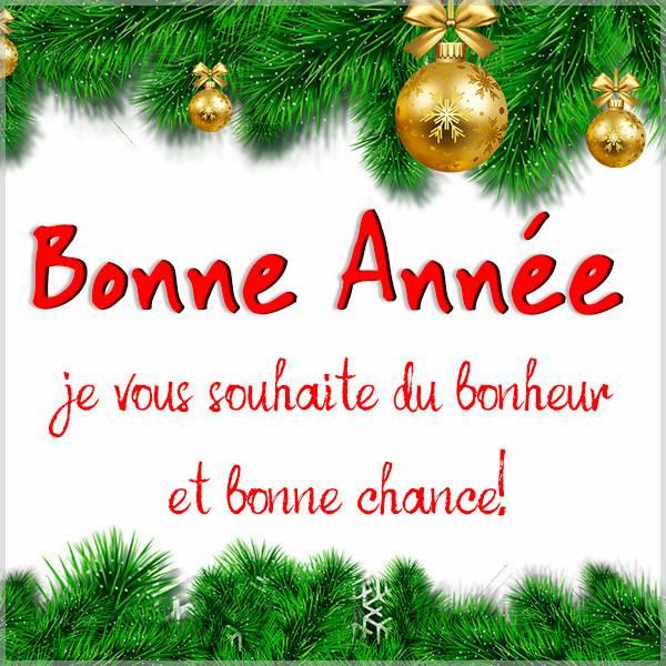 Французское новогоднее поздравление в картинке - скачать бесплатно на otkrytkivsem.ru
