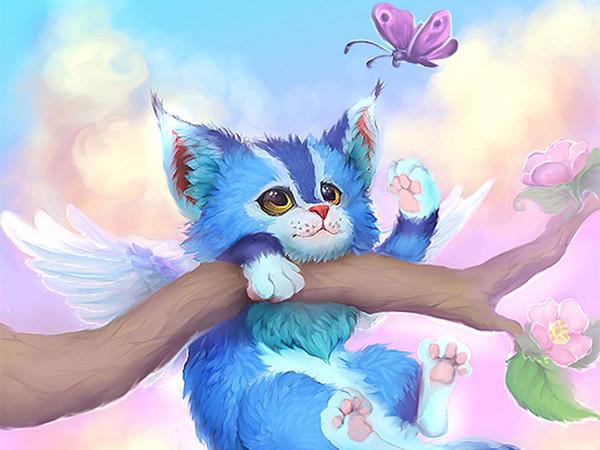 Голубая кошка - скачать бесплатно на otkrytkivsem.ru