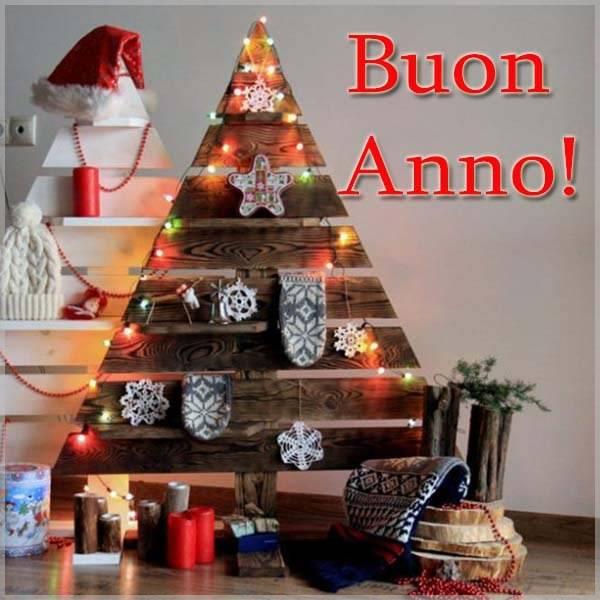 Открытка с Новым Годом на итальянском языке - скачать бесплатно на otkrytkivsem.ru