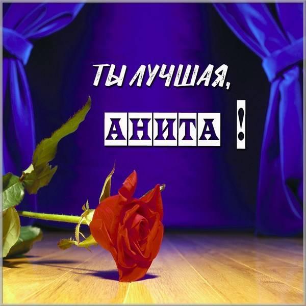 Картинка Анита ты лучшая - скачать бесплатно на otkrytkivsem.ru