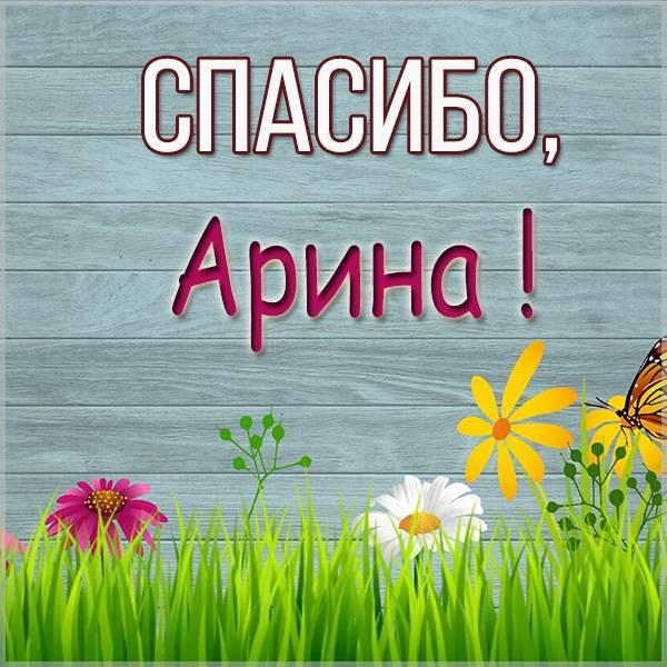 Картинка Арина спасибо - скачать бесплатно на otkrytkivsem.ru