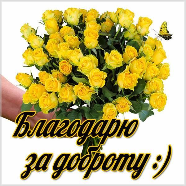 Картинка благодарю за доброту - скачать бесплатно на otkrytkivsem.ru