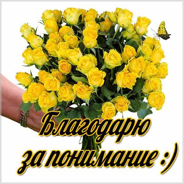 Картинка благодарю за понимание - скачать бесплатно на otkrytkivsem.ru