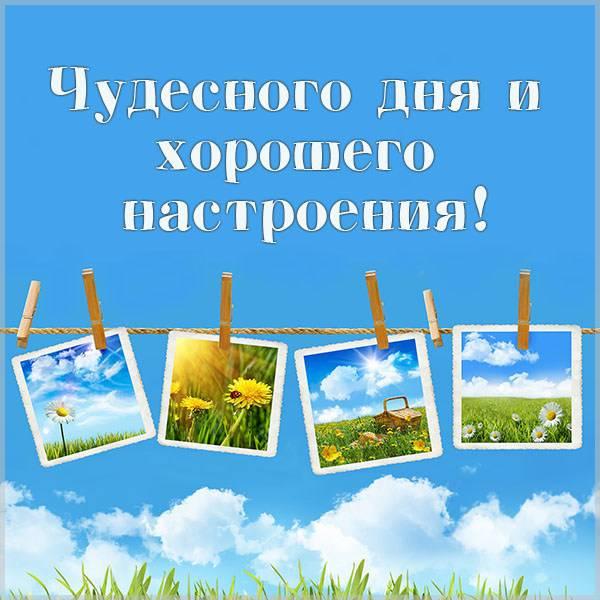 Картинка чудесного дня и хорошего настроения мужчине - скачать бесплатно на otkrytkivsem.ru