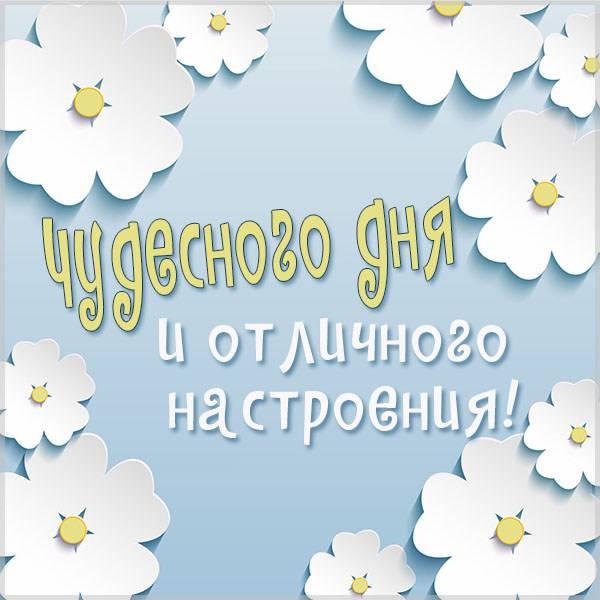 Картинка чудесного дня и отличного настроения - скачать бесплатно на otkrytkivsem.ru