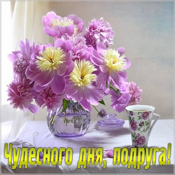 Картинка чудесного дня подруга - скачать бесплатно на otkrytkivsem.ru
