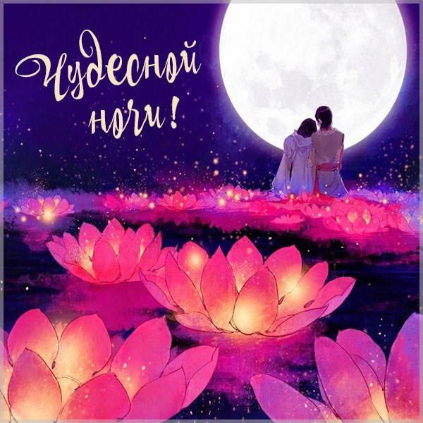 Картинка чудесной ночи с надписью - скачать бесплатно на otkrytkivsem.ru
