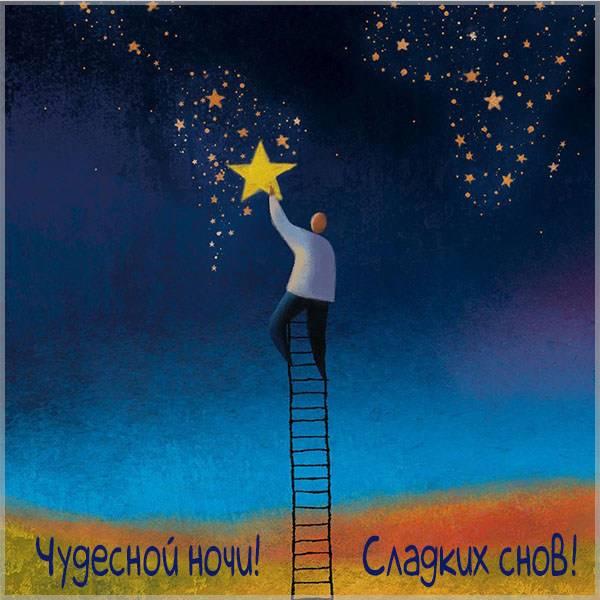 Картинка чудесной ночи сладких снов красивая - скачать бесплатно на otkrytkivsem.ru