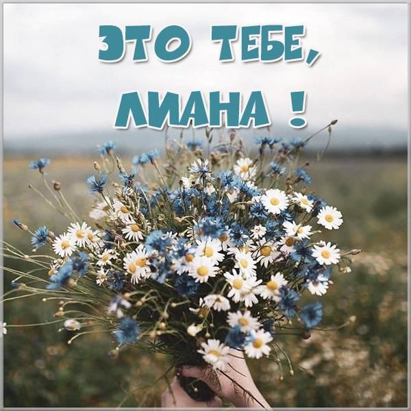 Картинка для Лианы с цветами - скачать бесплатно на otkrytkivsem.ru