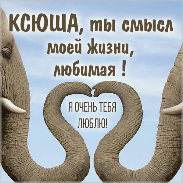 Картинка для любимой Ксюши - скачать бесплатно на otkrytkivsem.ru