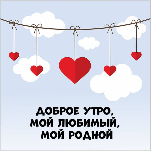 Картинка доброе утро мой любимый мой родной - скачать бесплатно на otkrytkivsem.ru