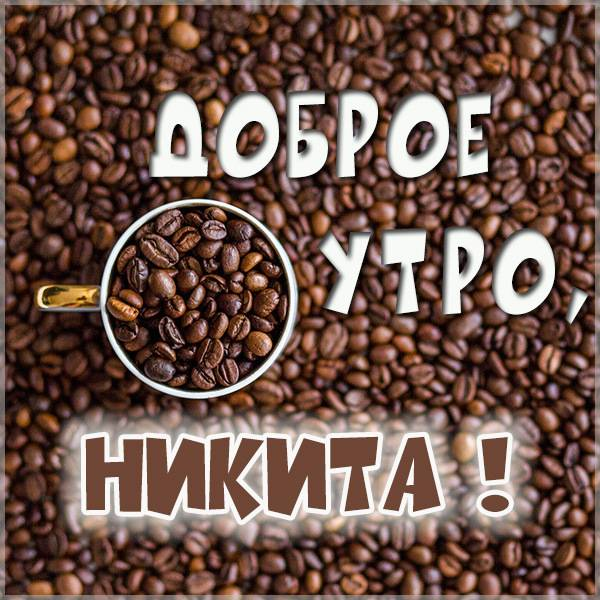 Картинка доброе утро Никита - скачать бесплатно на otkrytkivsem.ru