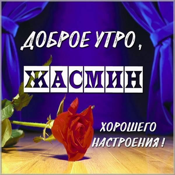 Картинка доброе утро Жасмин - скачать бесплатно на otkrytkivsem.ru