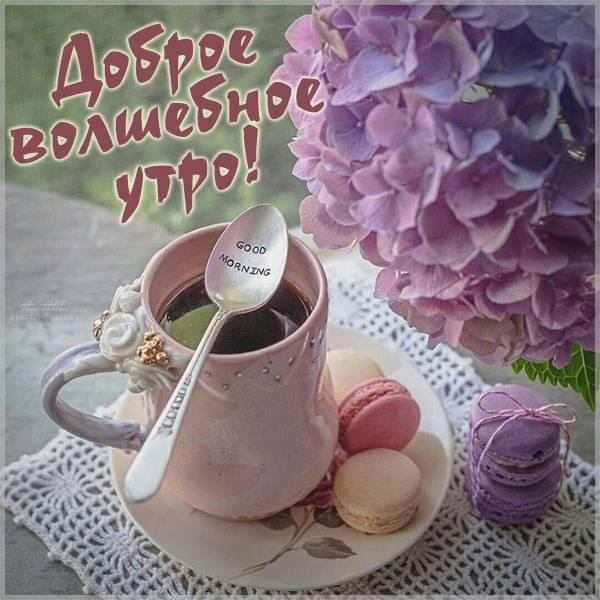 Картинка доброе волшебное утро - скачать бесплатно на otkrytkivsem.ru
