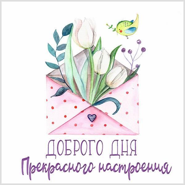 Картинка доброго дня и прекрасного настроения нежная - скачать бесплатно на otkrytkivsem.ru