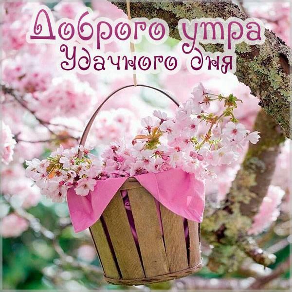 Картинка доброго утра и удачного дня красивая - скачать бесплатно на otkrytkivsem.ru