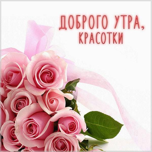 Картинка доброго утра красотки - скачать бесплатно на otkrytkivsem.ru