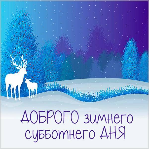 Картинка доброго зимнего субботнего дня - скачать бесплатно на otkrytkivsem.ru