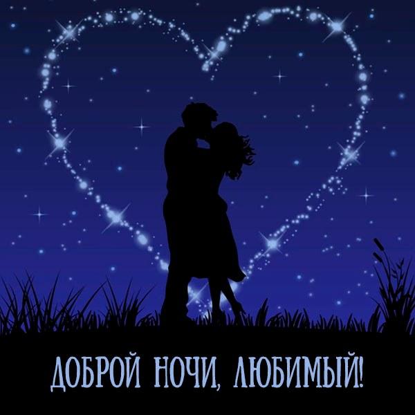 Картинка доброй ночи красивая мужчине любимому - скачать бесплатно на otkrytkivsem.ru