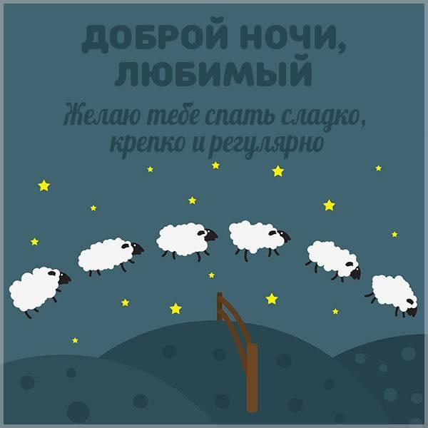 Картинка доброй ночи любимый прикольная - скачать бесплатно на otkrytkivsem.ru