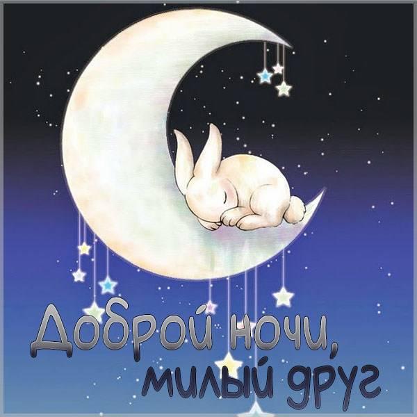 Картинка доброй ночи милый друг - скачать бесплатно на otkrytkivsem.ru
