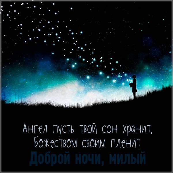 Картинка доброй ночи милый с надписью - скачать бесплатно на otkrytkivsem.ru