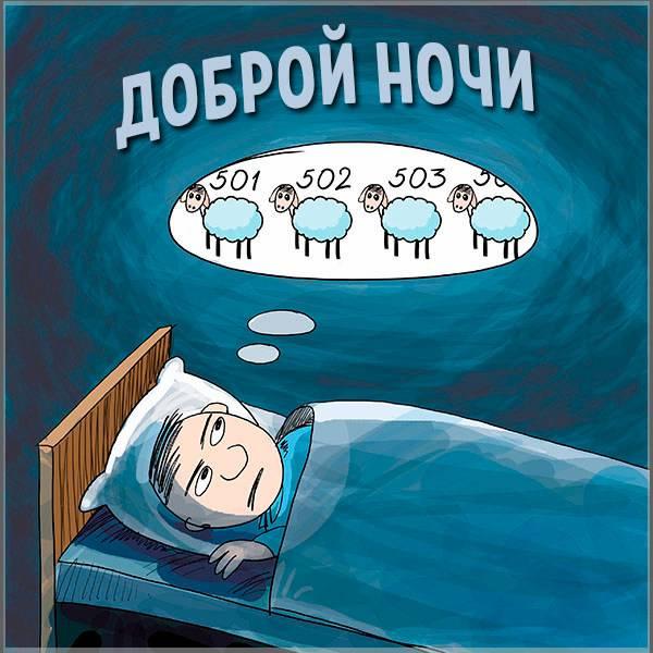 Картинка доброй ночи прикольная смешная с надписью - скачать бесплатно на otkrytkivsem.ru