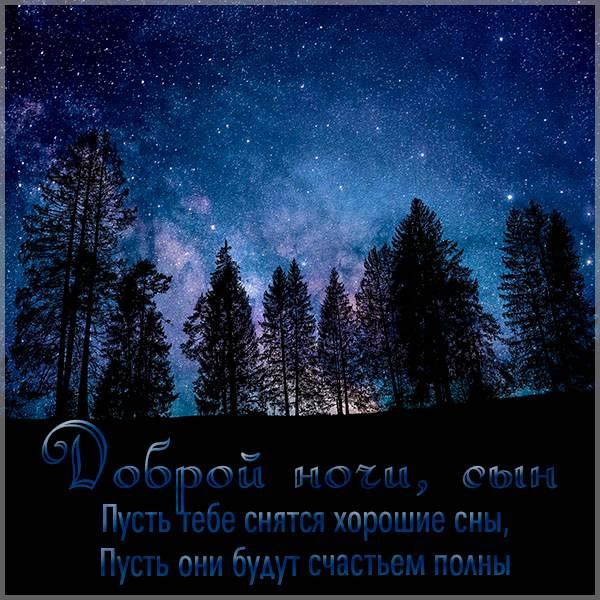 Картинка доброй ночи сын - скачать бесплатно на otkrytkivsem.ru