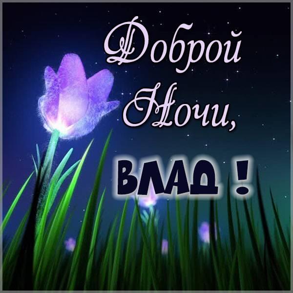 Картинка доброй ночи Влад - скачать бесплатно на otkrytkivsem.ru