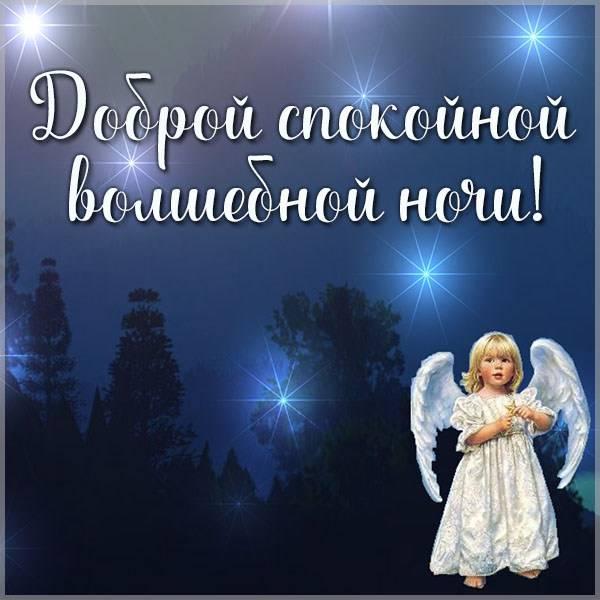 Картинка доброй спокойной волшебной ночи - скачать бесплатно на otkrytkivsem.ru