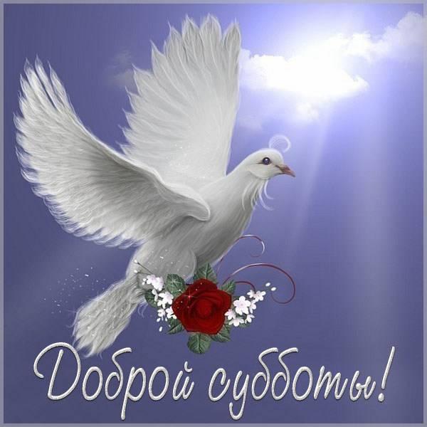 Картинка доброй субботы с надписью - скачать бесплатно на otkrytkivsem.ru