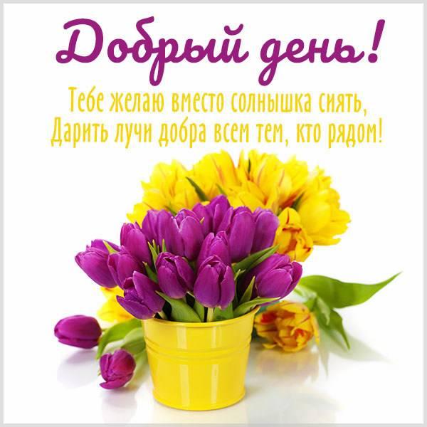 Картинка добрый день с надписью девушке - скачать бесплатно на otkrytkivsem.ru