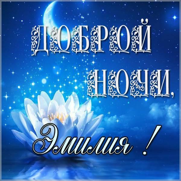 Картинка Эмилия доброй ночи - скачать бесплатно на otkrytkivsem.ru