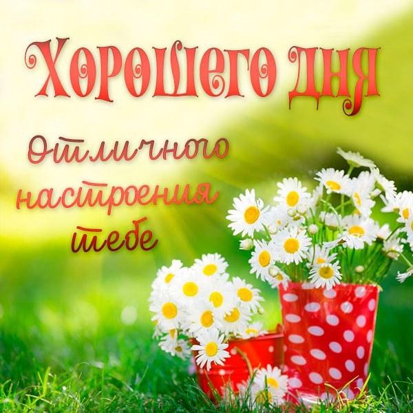 Картинка хорошего дня и отличного настроения - скачать бесплатно на otkrytkivsem.ru