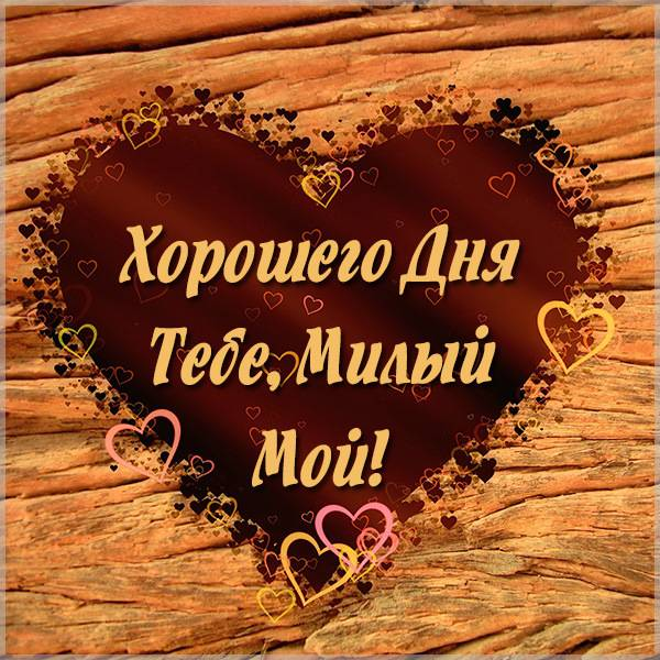 Картинка хорошего дня тебе милый с надписью - скачать бесплатно на otkrytkivsem.ru