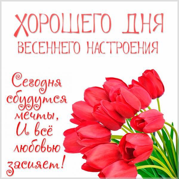 Картинка хорошего дня весеннего настроения красивая - скачать бесплатно на otkrytkivsem.ru