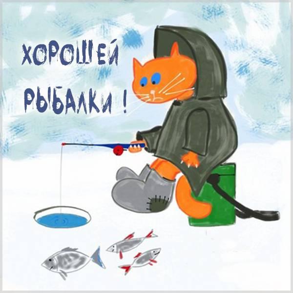 Картинка хорошей рыбалки прикольная - скачать бесплатно на otkrytkivsem.ru