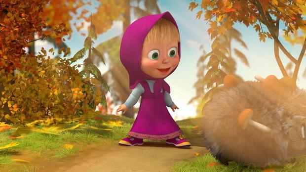 Картинка из мультфильма Маша и медведь - скачать бесплатно на otkrytkivsem.ru
