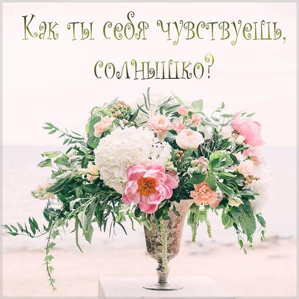 Картинка как ты себя чувствуешь солнышко - скачать бесплатно на otkrytkivsem.ru