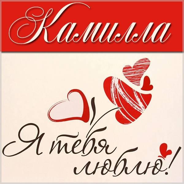 Картинка Камилла я тебя люблю - скачать бесплатно на otkrytkivsem.ru